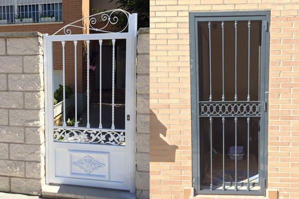 Puertas de hierro forjado ventajas cerrajer a rubio for Puertas de fierro interiores